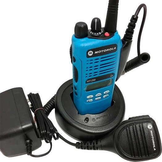Motorola HT1250 Low Band VHF Two Way Radio 35-50 MHz Blue