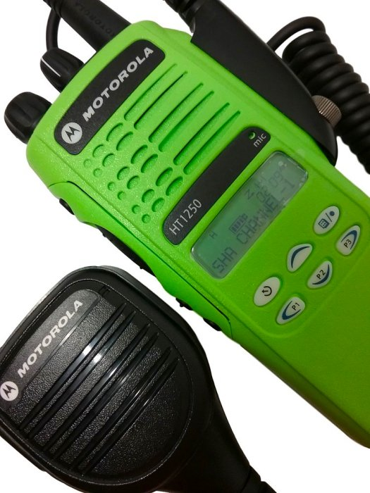Motorola HT1250 Low Band VHF Two Way Radio 35-50 MHz Green