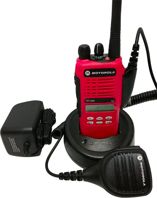 Motorola HT1250 Low Band VHF Two Way Radio 35-50 MHz Red