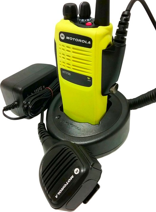 Motorola HT750 VHF Two Way Radio 16-Channel 136-174 MHz Yellow