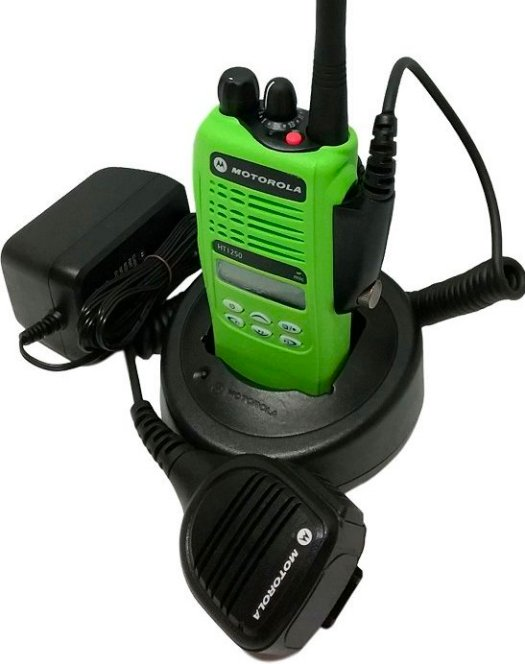 Motorola HT1250 VHF Model II Two Way Radio 136-174 MHz MDC Green