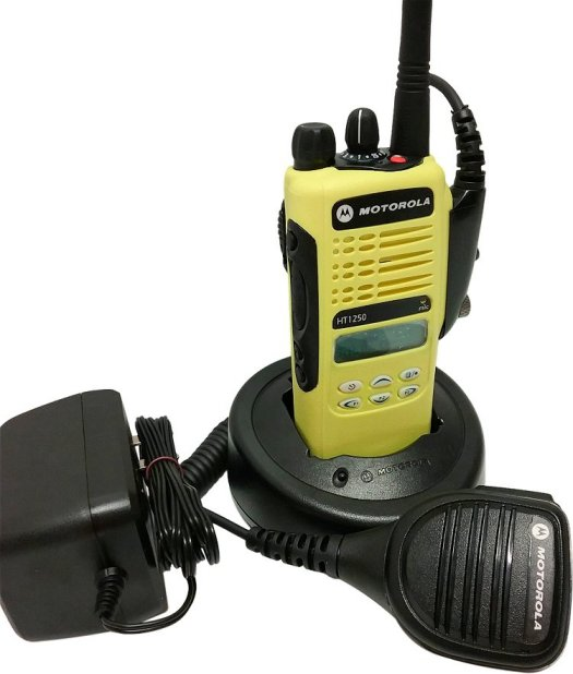 Motorola HT1250 Model II VHF Two Way Radio 136-174 MHz Yellow