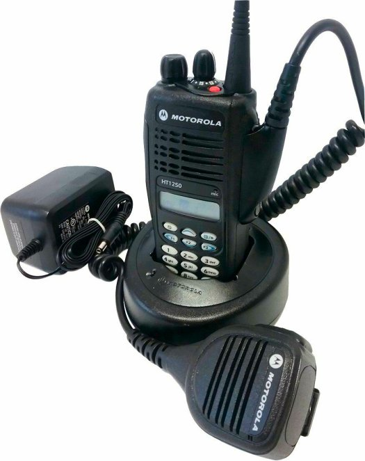 MOTOROLA HT1250 Model 3 VHF 136-174 MHz Two Way Radio