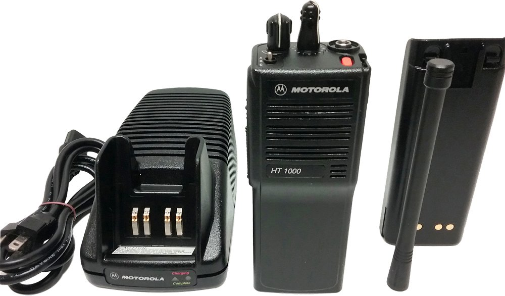 Motorola HT1000 UHF 403-470 MHz 16-Channel Two-Way Radio MDC